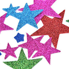 50Pcs 3D Glitter Star Adhesive Foam Stickers Christmas Cards Making Scrapbooking