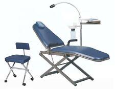 Tpc Portable Dental Chair With Cuspidor Led Light Dental Stool Carry Bag