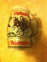 BUDWEISER BEER STEIN--CLYDESDALES--CERAMARTE--BRAZIL----FREE SHIP--EUC
