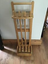 New listingCroquet wooden set x4 on roller stand plus wooden coloured balls