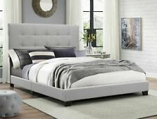 Panel Bed, Twin (Crown Mark Florence) gray