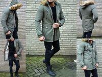 LUXUS HERREN PARKA Winter RUSSIA YOUNG Mode UK STYLE FASHION FELL Mantel Jacke