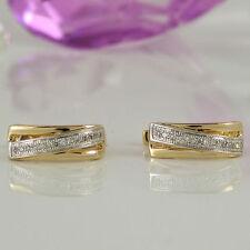 Ohrschmuck aus mehrfarbigem Gold mit Diamanten Schnappverschluss und Reinheit VS