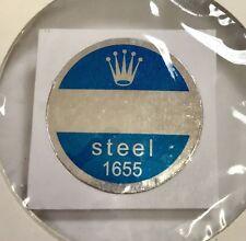 ROLEX 1655 Steel Caseback Blue Sticker Certificate 1970's Explorer II Freccione