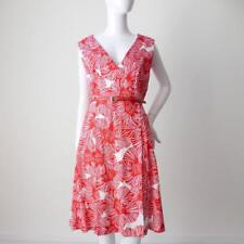 DAVID LAWRENCE Sleeveless Size 12 US 8 Red and White Sheath Dress