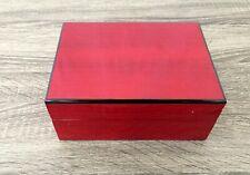 Red Wood Jewelry Box Watch Organizer Storage