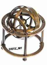 Brass Globe Nautical Sphere Armillary Zodiac Signs TableTop Paperweight 3.5""