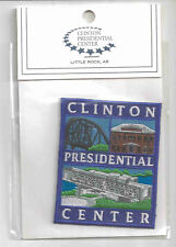 "Clinton Presidential Center Souvenir Patch 3"" square New in Package"