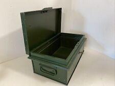 More details for vintage green lockbox / cash box lockable with key retro | metal work gun store