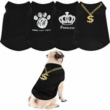 Svee 4 Pieces Dog Shirts Pet Clothes Puppy Outfits Dog Summer Shirt for Chihu.