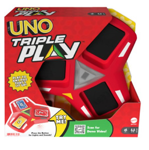 UNO Triple Play Game Electronic Extension of Uno Classic Game NEW