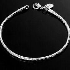 Men Women Simple Style Snake Bone Bracelet Fashion Bangle Jewelry Gift  6A
