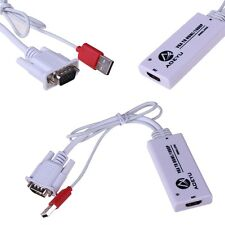 NEW VGA + USB Power To HDMI LCD 1080p Converter Adapter Cable For PC TV  AY55
