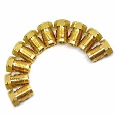 "Brass Brake Pipe Fittings M10 x 1mm Short Male 10 PACK for 3/16"" Pipe FL13"