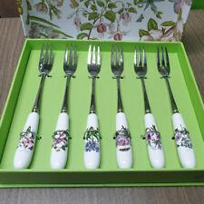 Portmeirion Botanic Garden Pastry Forks Set of 6 Worldwide