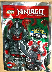FIGURINE LEGO MINIFIGURE POLYBAG  NINJAGO LE GUERRIER SERPENT VERMILLION