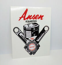 Ansen Equipped Vintage Style DECAL, Vinyl STICKER, racing, hot rod, rat rod