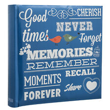 Blue Memo Slip In Photo Album 10 x 15 cm For 200 Photos - MEMORIES