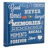 Blue Memo Slip In Photo Album 10 x 15 cm For 200 Photos - MEMORIES