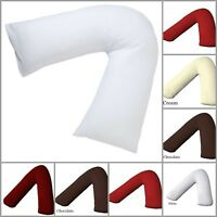 Hollowfibre Back and Neck Support V Shaped Orthopedic Pillow With V Pillow Case