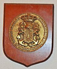 Capitánia General de la Zona Maritima del Mediterraneo placa plaque shield crest