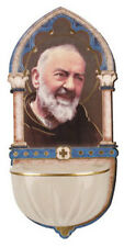 PADRE PIO HOLY WATER FONT - CATHOLIC RELIGIOUS CANDLES STATUES PICTURES LISTED