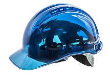 Casco De Seguridad vista Pico, completo Reino Unido spec. Portwest PV50, sombrero duro, sitio de construcción, Azul