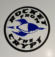 ROCKET FROM THE CRYPT Promo VINTAGE Round Logo Sticker ROCK - Not A Reprint!