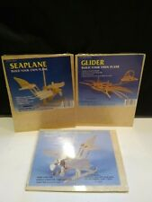 Lot of 3 Wood Wooden Puzzles Toys Planes