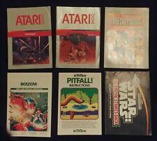 ATARI 2600 Video Game Manuals - Your Choice!