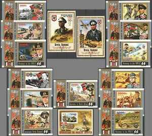 G1530 IMPERF 2016 CHAD SWASTIKA GERMANY IN THE WWII WORLD WAR II ROMMEL 16BL MNH