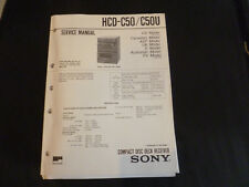 ORIGINALI service manual Sony hcd-c50/c50u