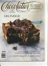 CHOCOLATIER MAGAZINE SEPTEMBER 1987 FUDGES FINE BRANDY COGNAC FRANCE NAPA VALLEY