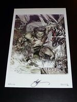 "WOLVERINE ART PRINT - ART BY EBAS SIGNED 11""x17"""