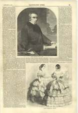 1856 Thomas Babington Mccauley Mp Engraving January Fashions
