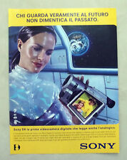 A993-Advertising Pubblicità-1999 - SONY D8 VIDEOCAMERA DIGITALE