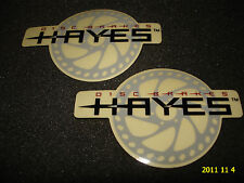 2 AUTHENTIC HAYES DISC BRAKES STICKERS / DECALS #2 AUFKLEBER