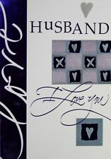 Husband I Love You Birthday Card  with Silver Envelope
