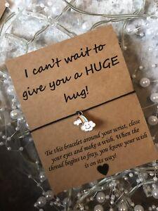 🌈 Smiling Rainbow, Hug friendship Wish bracelet/anklet Gift Present Distance 🌈