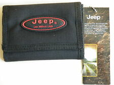 Mens Canvas Black Rip Wallet Credit Cards Wallets by Jeep PH935