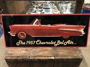 The 1957 Chevrolet Bel Air Ex Shop Display Sign