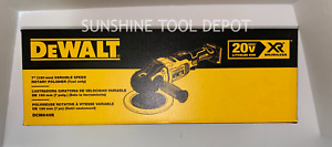 "Dewalt DCM849B 20V MAX XR 7"" Cordless Variable-Speed Rotary Polisher (Tool Only)"