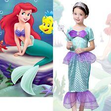 AU Stock Little Mermaid Children Girls Outfits Dress Up Costume Princess Dresses