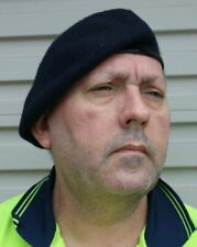 BERET ARMY NAVY BLUE - 100 WOOL MINT size LARGE 58-60cm AUSTRALIAN ARMY