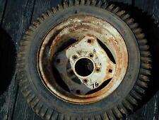 #76 Roper Sears Suburban Riding Lawn Mower Rear Tire Wheel - 22 x 7.50 - 12