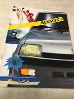 Renault 5 R5 1983 catalogue prospectus brochure dépliant automobile publicité
