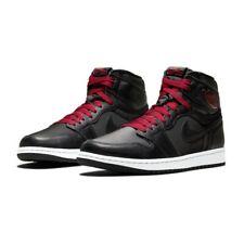 Nike Air Jordan 1 Retro High OG Black Satin Gym Red Shoes 555088 060 Size 11 New