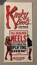 Kinky Boots Gatefold Flyer Adelphi Theatre London West End (Cyndi Lauper) 2017