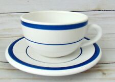 NAUTICA Signature Hot Chocolate Coffee Cups and Saucers blue stripes Portugal