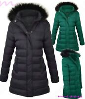New GIRLS PUFFER PARKA JACKET COAT HOODED Padded CLOTHING AGE 7-8 9-10 11-12 13